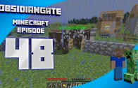 Minecraft ObsidianGate Server (Ender Dragon Run): Episode 48 – Caving and Building a Small Cow Farm