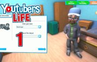 Let's Play Youtubers Life Episode 1: Living With Mom – Youtubers Life Gameplay