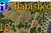 Banished – Optimizing Our Crop Fields, Best Farm Size – Let's Play Modded Banished Gameplay Part 10