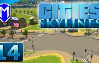 Cities Skylines – Large Intersection, Building Up – Let's Play Cities Skylines Gameplay Part 14