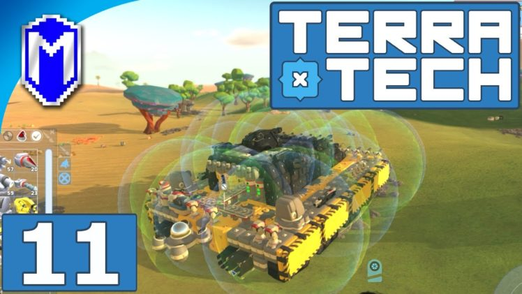 TerraTech – Super Heavy Tank With Mobile Delivery Cannon – Let's Play TerraTech Gameplay Ep 11