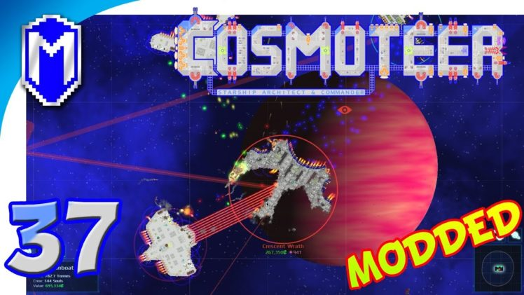 Cosmoteer -Testing Out A Diagonal Gunship – Let's Play Cosmoteer Star Wars Gameplay Ep 37
