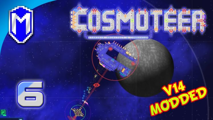 Death By A Thousand Bullets, Battling A Carrier – Let's Play Cosmoteer v14 Mods Gameplay Ep 6