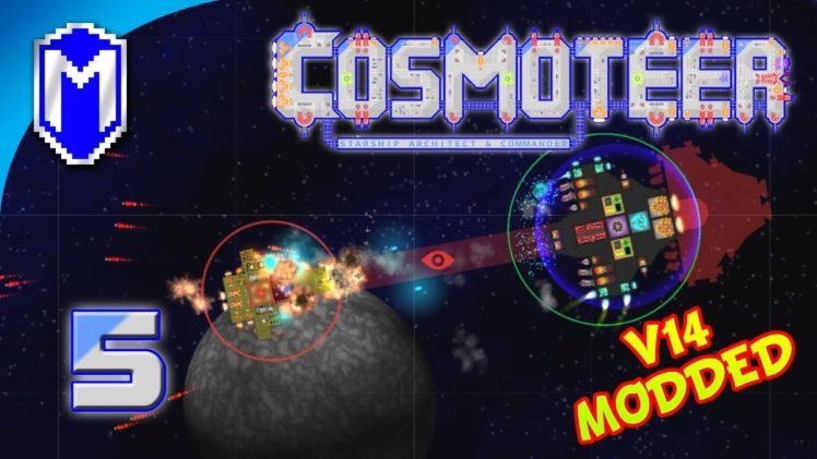 Shredding Ships With Flak Cannons, Adding More Mods – Let's Play Cosmoteer v14 Mods Gameplay Ep 5