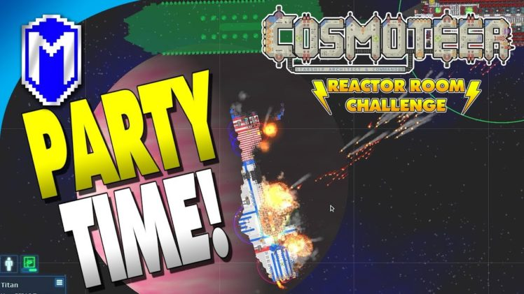 PARTY TIME! Firework Launchers! – Let's Play Cosmoteer Reactor Room Challenge Modded Gameplay Ep 7