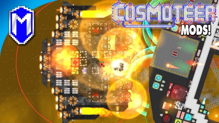 Baiting The Enemy, Sending Them To Their Doom – Let's Play Cosmoteer Mods Gameplay Ep 13