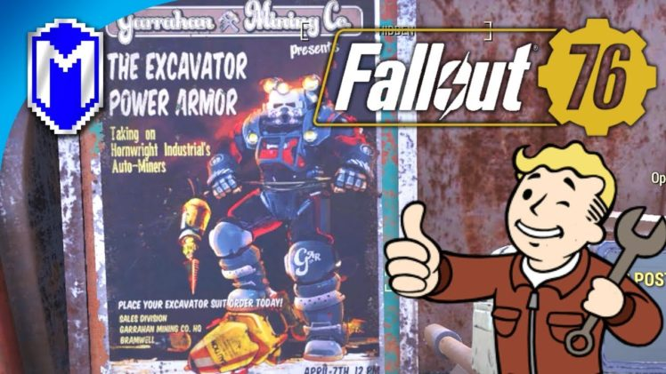 Getting The Excavator Power Armor Plans, Miner Miracles – Let's Play Fallout 76 PC Gameplay Ep 8