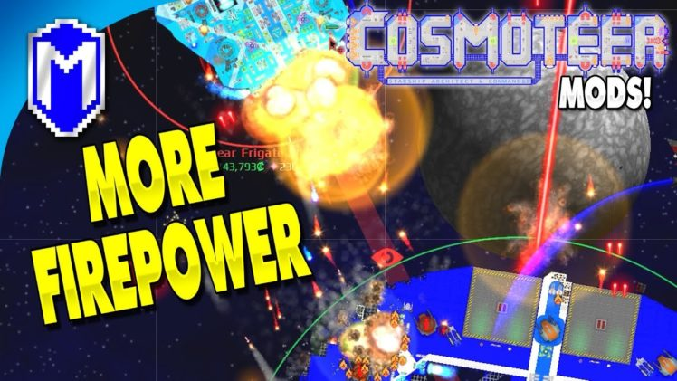Need More Firepower! Adding More Weapons To The Station – Let's Play Cosmoteer Mods Gameplay Ep 14