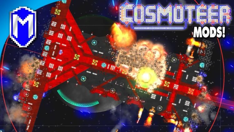 The New Scout Ship, Building A Fast Ship With Boosters – Let's Play Cosmoteer Mods Gameplay Ep 16