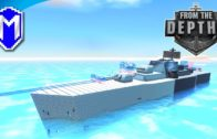 New Large Ship With Laser Turrets – Quest For Neter – Let's Play From The Depths Gameplay Ep 18