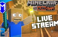 🎥 Digging And Mining – Live Stream AlphaCraft Server – Let's Play Minecraft SMP Gameplay Ep 2