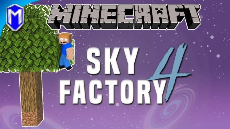 Creating New Saplings With Acorns, Drying Our Nuts – Minecraft Sky Factory 4 Ep 1