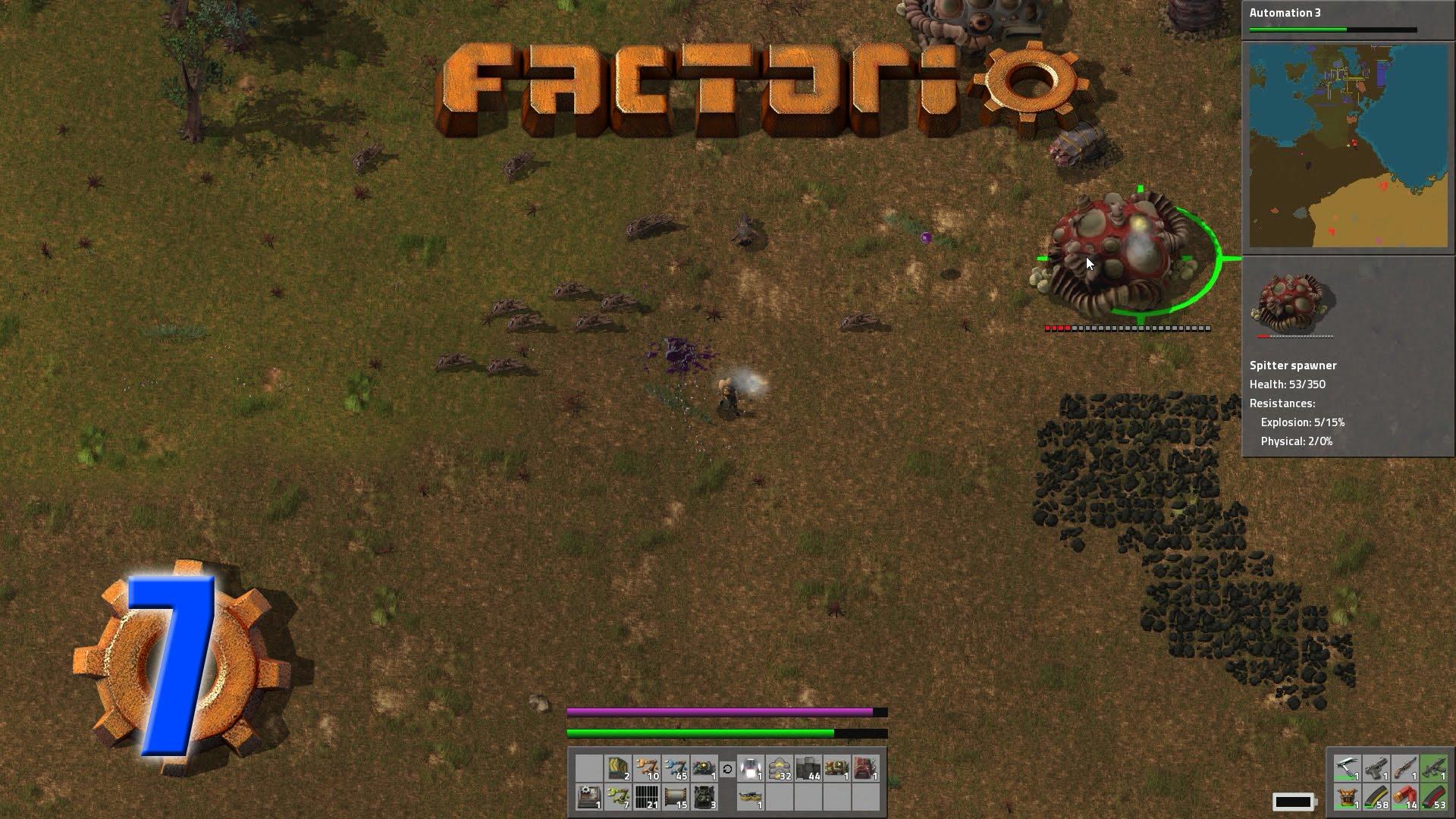 Factorio (Letu0027s Play | Gameplay) Episode 7 U2013 Modular Armor And Alien  Artifacts | MacGhriogair