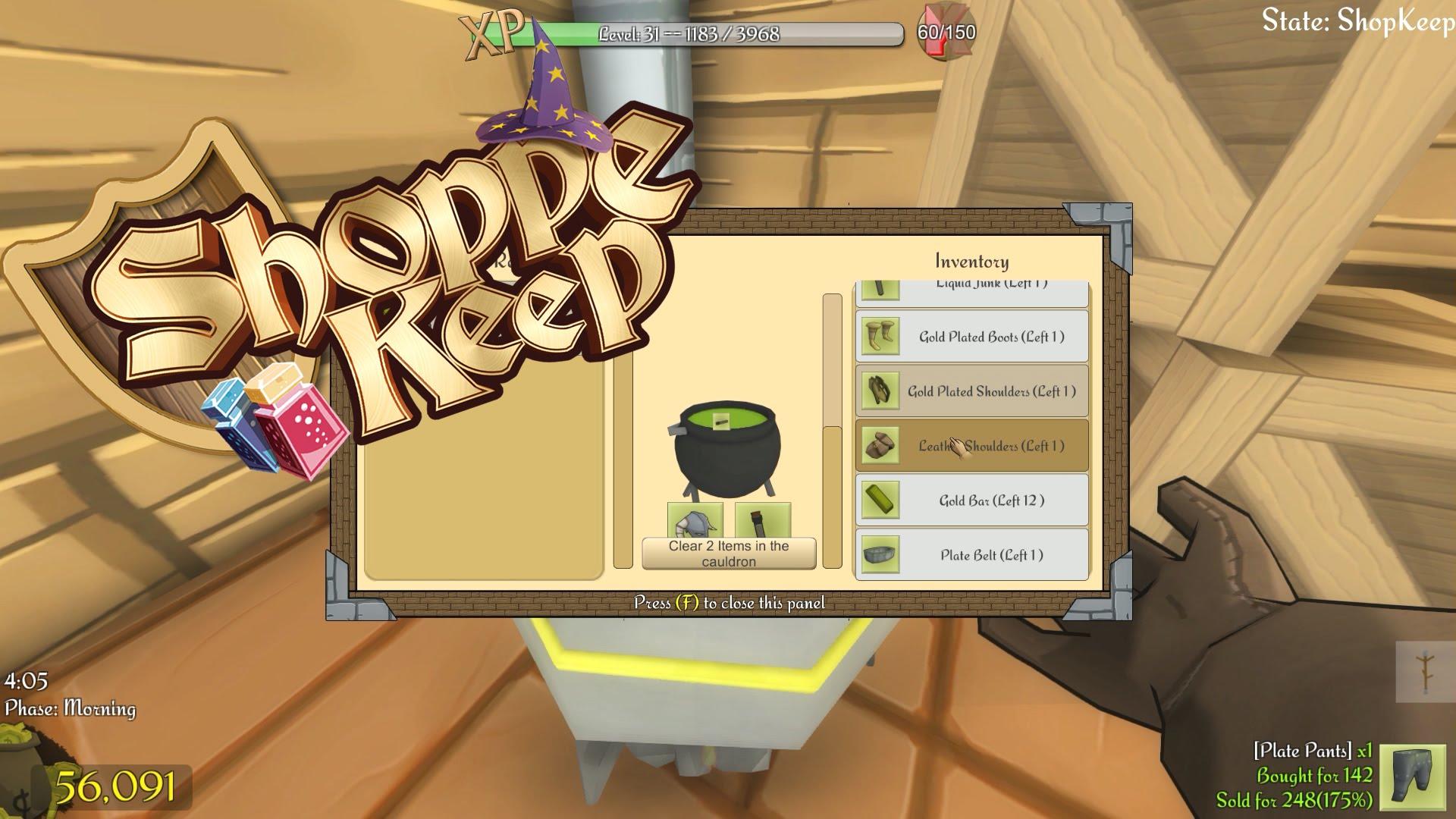 Let's Play Shoppe Keep Episode 17: The Cauldron – Shoppe