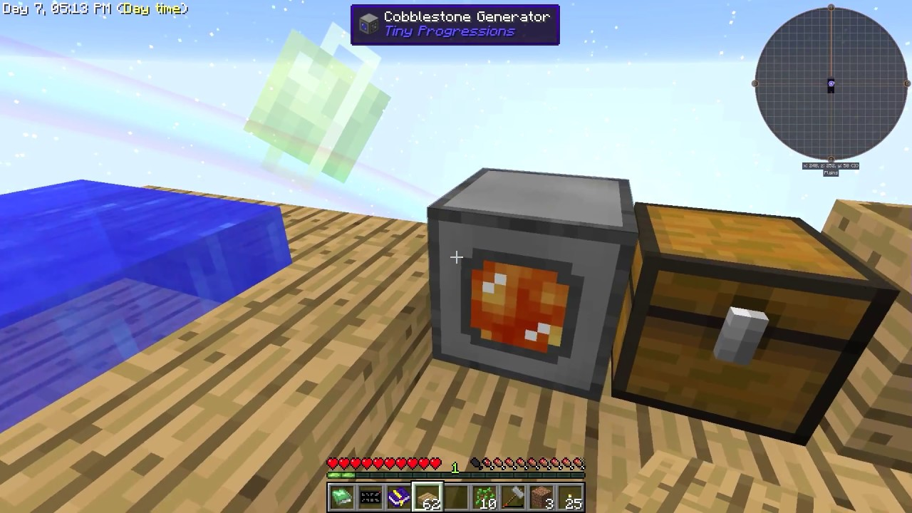 Minecraft sky factory how to make a automatic cobblestone generator